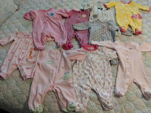 9 newborn baby girl onesies for Sale in Frederick, MD