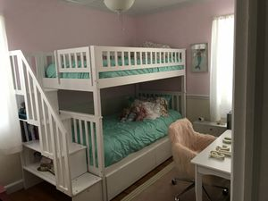 Twin over twin bunk bed with storage for Sale in OSBORNVILLE, NJ