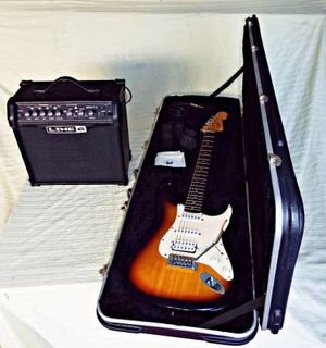 Fender Squier Bullet + SKB Hardshell Case+ Spider IV 15 Amp, Excellent- for Sale in West Los Angeles, CA