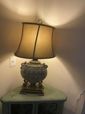 Antique-y Lamp (Aqua & Bronze) for Sale in Murfreesboro, TN