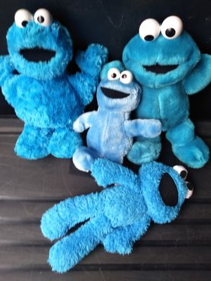 Cookie Monster stuffed/plushie lot (4) for Sale in Sacramento, CA