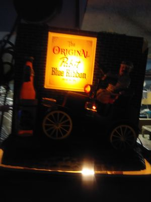 Used, Pabst blue ribbon lighted moving car sign for Sale for sale  Fairview, NJ