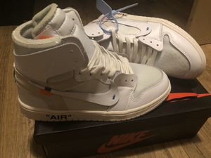 Jordan 1 Retro High Off-White White/high quality unauthorized authentic/Size 9 for Sale in San Diego, CA