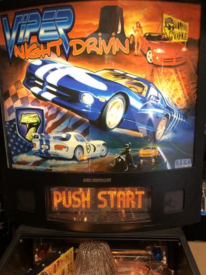 Pinball - 1998 Sega Viper Night Drivin' $2800/OBO for Sale in Lorton, VA