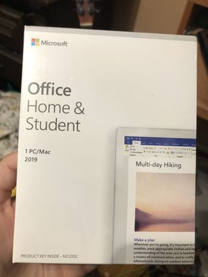Microsoft Office Home&Student 2019 for Sale in Arlington, TX