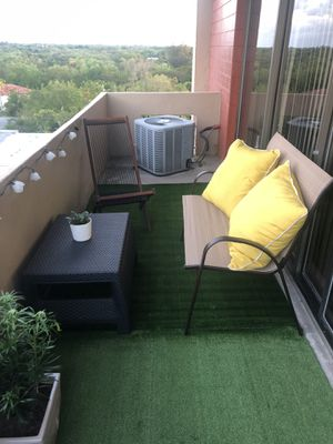 Outdoor Loveseat and Ottoman for Sale in Miami, FL