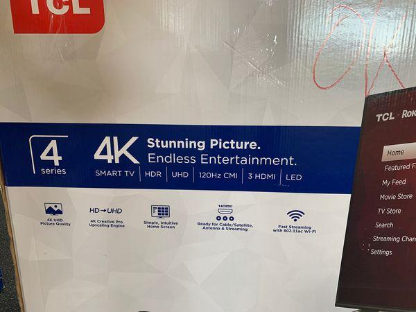 "Brand New TCL ROKU 43"" Smart TV 4K!"