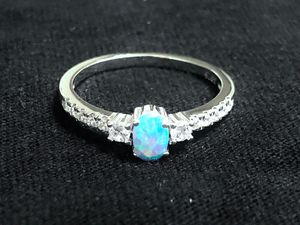Sterling Silver blue opal ring for Sale in Las Vegas, NV