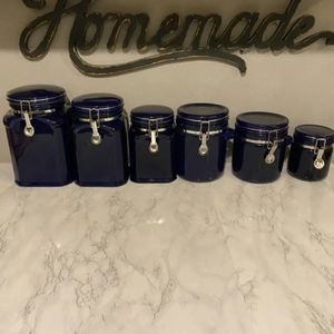 Ceramic Blue Canister Set for Sale in Lynnwood, WA