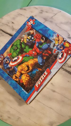 Marvel Avengers 48 piece new puzzle kids children toy game gift Spider-Man Hulk Thor Captain America for Sale in Scottsdale, AZ