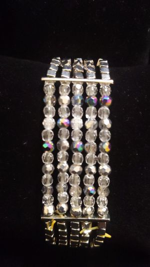 New Cookie Lee stretch bracelet silver and crystals stunning original tag $36 for Sale in Winchester, CA