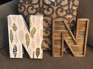 New, $7 for 2 decorative letter 'N' for Sale in Snohomish, WA