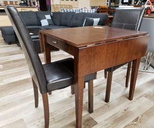NEW 3 PC Espresso Bistro Dining Set: Table w/ Drawer w/ Defect for Sale in Burlington, NJ