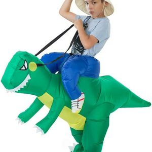 Inflatable Children Dinosaur Costumes Riding Funny Costume Suit for Kids Halloween Party Cosplay Green for Sale in South Gate, CA