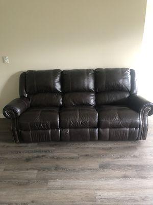 Espresso Brown Couch & Loveseat for Sale in Renton, WA