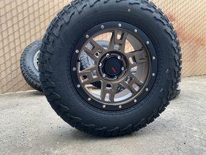"17"" Wheels A/T Tires Chevy Silverado GMC Sierra Toyota Tacoma Rims for Sale in Sacramento, CA"