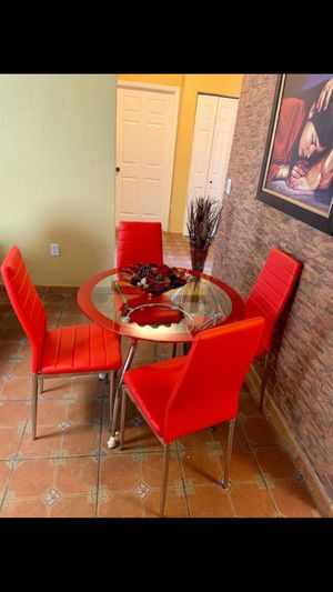 Dining set 4 chairs in especial offer for Sale in Miramar, FL