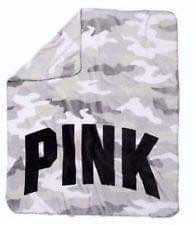 Grey And White Camo Print PINK Victoria Secret Sherpa Blanket for Sale in South Gate, CA