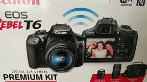 Brand new DLSR Canon EOS Rebel T6 premium kit. 2 lenses and a bag for Sale in South Miami, FL