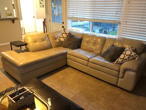Sectional leather couch for Sale in Seabrook, TX