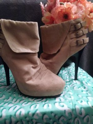 Tan heeled boots for Sale in Portland, OR