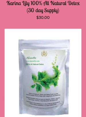 Karina Lily 100%Natural-Detox for Sale in Los Angeles, CA