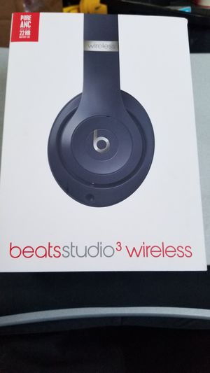 Beats Studio 3 Wireless Headphones Noise Cancelling Over Ear Bluetooth Headset Apple Android Samsung Windows for Sale in Houston, TX