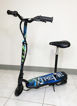 """New in box $75 Kids Teens Electric Scooter w/ Seat Hand Brake Kick Stand Rechargeable Battery (29x8x35"""") for Sale in South El Monte, CA"""