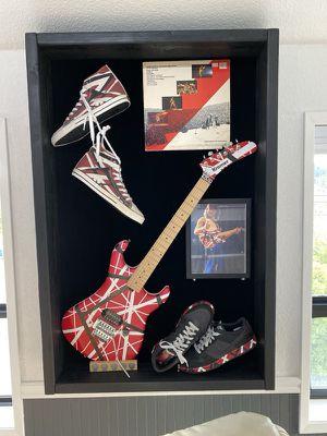Guitar display case museum art display custom built Van Halen not included for Sale in Auburn, WA