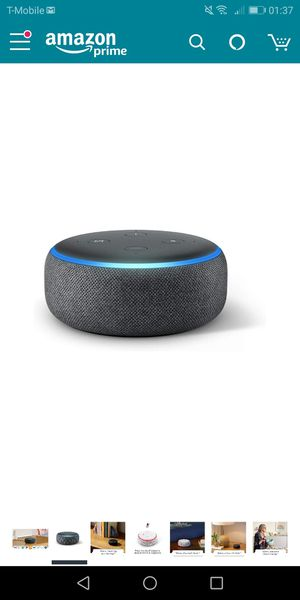 Echo Dot (3rd Gen) - Smart speaker with Alexa - Charcoal- new for Sale in Naperville, IL