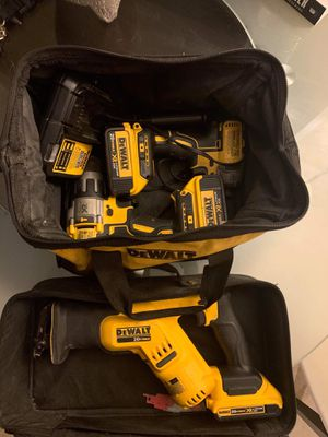 DeWalt 20v XR Hammer Drill-Impact Driver/ 20vMax Sawzall Combo for Sale in San Diego, CA