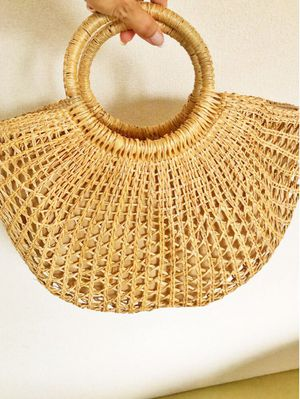 Hand woven straw tote bag for Sale in Nashville, TN
