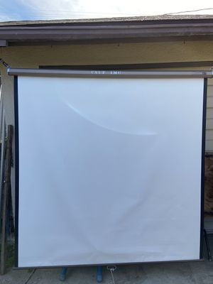 """70""""x 70"""" projector screen excellent condition!!! for Sale in Fresno, CA"""