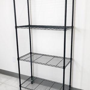 "New $50 Metal 4-Shelf Shelving Storage Unit Wire Organizer Rack Adjustable w/ Wheel Casters 30x14x61"" for Sale in La Mirada, CA"