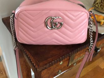 Gucci GG Marmont Shoulder Bag Matelasse Leather Small Pink Shoulder Bag Matelasse Leather Small Pink for Sale in Medford,  MA