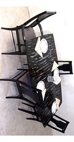 Custom dining table and 4 soft cushion chairs for Sale in Delray Beach, FL