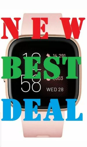 NEW Fitbit Versa 2 SmartWatch FB507RGPK, Copper Rose with Small & Large Bands for Sale in Bothell, WA