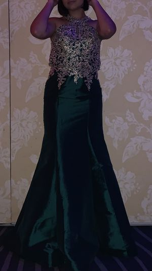 Green and Gold Prom Dress for Sale in Kissimmee, FL