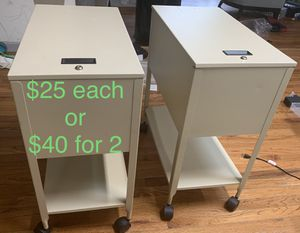 Rolling File Cabinets - ideal for working from home. for Sale in Riverdale, GA