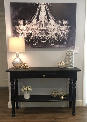 Modern Urban Farmhouse Rustic Vintage Long Black Accent Entry Console Sofa Table, TV Stand, Buffet, Coffee Bar, Vanity, Desk, Storage - So Attractive! for Sale in Phoenix, AZ