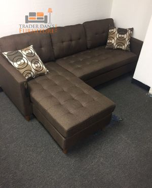 Brand New Brown Linen Sectional Sofa Couch for Sale in Laurel, MD