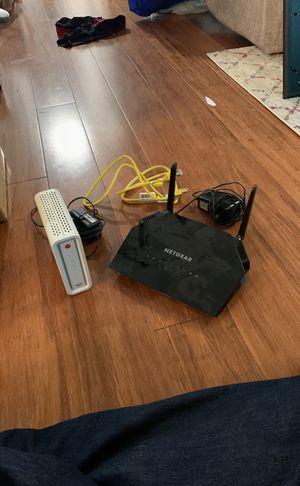 Netgear router and Motorola modem for Sale in Bellevue, WA