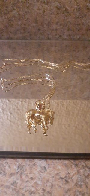 14 Kt. Gold Necklace with 14 kt. Horse Charm for Sale in Scottsdale, AZ