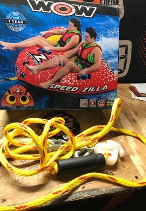 Wow boat speed Zola two person pull float rope to for Sale in Evergreen Park, IL