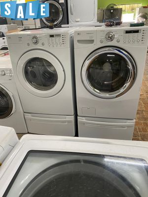With Pedestals Washer Electric Dryer Set LG AVAILABLE NOW! #1568 for Sale in Sanford, FL