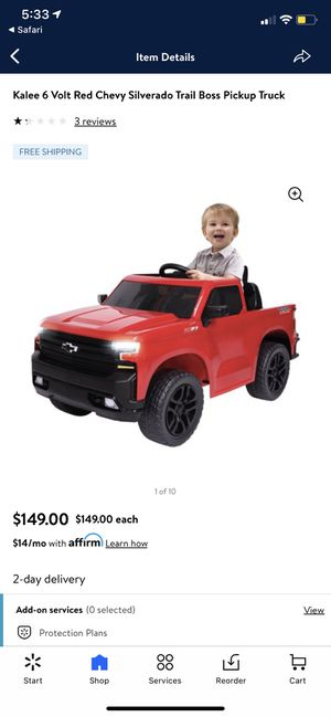 Red Chevy black rims battery operated truck for Sale in Mount Holly, NC