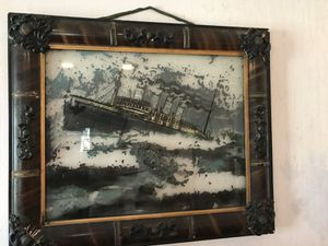 Titanic antique painted glass wood original frame for Sale in Laytonsville, MD