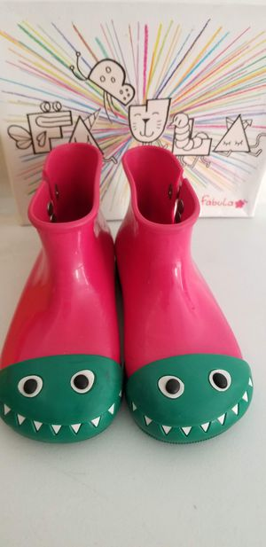 GIRLS RAIN BOOTS MINI MELISSA SIZE 12 for Sale in Placentia, CA