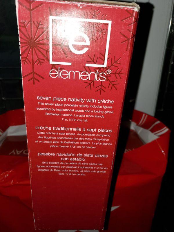 ELEMENTS NATIVITY SCENE
