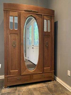 Solid Oak Antique Armoire for Sale in Burbank, CA